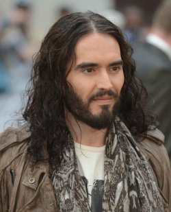 "Russell Brand attends the European Premiere of ""Rock Of Ages"" in London."