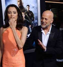 "Bruce Willis and Emma Heming attend the ""G.I Joe: Retaliation"" premiere in Los Angeles"