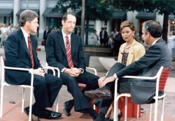 Bill Clinton, Bill Bradley, Tony Coelho interviewed by Jane Pauley on Today Show