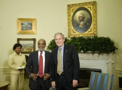 U.S. PRESIDENT BUSH MEETS WITH HAITIAN PRESIDENT PREVAL IN WASHINGTON