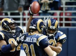 San Francisco 49ers vs St. Louis Rams football