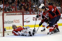 Jose Theodore gives Up a Goal in Washington, DC