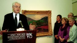 French Prime Minister Lionel Jospin presents rare late work by Paul Gauguin to Israel Museum
