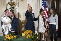 President Obama Pardons the National Thanksigving Turkey in Washington, D.C.