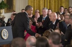 President Obama Awards the Medal of Honor to Kyle J. White in Washington, D.C.