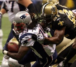 Monday Night Football, Patriots Laurence Maroney scores touchdown against the Saints