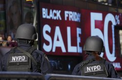 NYPD Security in Times Square on Black Friday