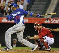 Los Angeles Angels vs Los Angeles Dodgers in Anaheim, California