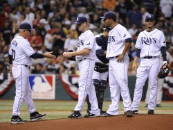 Game Two of the ALCS between the Tamp Bay Rays and Boston Red Sox in Tampa Bay