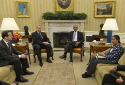 President Obama holds talks with envoys to ISIS coalition in Washington