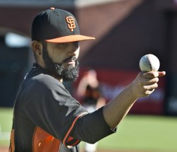 San Francisco Giants practice for World Series
