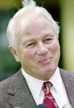 Former Louisiana Governor Edwin Edwards on day one of his federal corruption trial.
