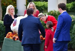Members of the First Family at the National Thanksgiving Turkey Pardoning Ceremony at the White House