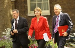 BRITISH PM GORDON BROWN'S NEW CABINET ARRIVES FOR FIRST MEETING IN LONDON