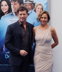 "Harry Connick Jr. and Jill Goodacre attend the ""Dolphin Tale"" premiere in Los Angeles"