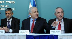Israeli Prime Minister Benjamin Netanyahu speaks at a press conference in Jerusalem