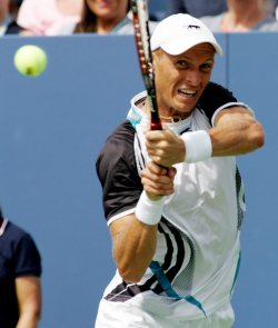 Davydenko takes on Soderling in forth round at the US Open Tennis Championship in New York