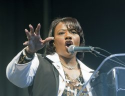 Rev. Bernice King at Walk for Reconciliation