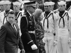 Margaret Thatcher meets Caspar Weinberger at the Pentagon