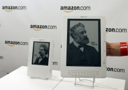 Amazon CEO Jeff Bezos announces the new Kindle DX
