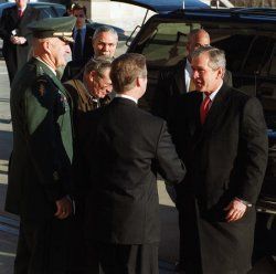 National security transition meeting for George W. Bush