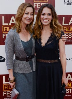 "Sharon Lawrence and Bethany Joy Lenz attend the ""Middle of Nowhere"" premiere in Los Angeles"