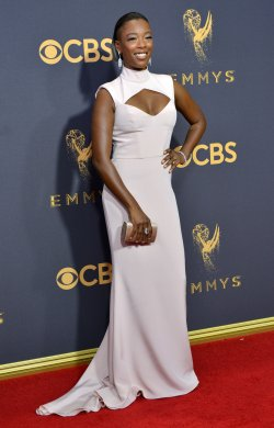 Samira Wiley attends the 69th annual Primetime Emmy Awards in Los Angeles
