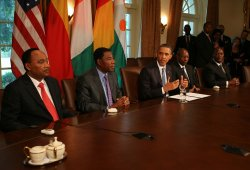 President Obama meets with African Leaders in Washington