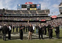 Raiders alumni pay tribute to the late Al Davis in Oakland, California