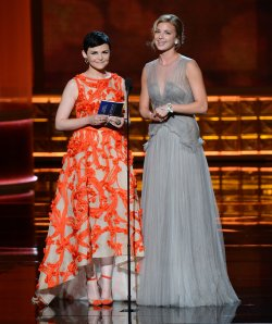Ginnifer Goodwin and Emily VanCamp attend the 64th Primetime Emmy Awards in Los Angeles