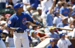 Chicago Cubs' Alfonso Soriano homers against the Houston Astros