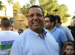 Moshe Leon Campaigns In Jerusalem's Municipal Elections