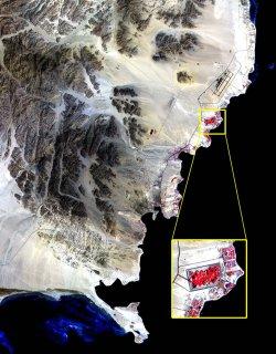 Satelite view of Sharm El Sheik