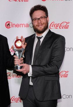 Seth Rogen arrives at the 2014 CinemaCon Awards Ceremony in Las Vegas