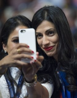 Clinton aide Abedin picture taken at the DNC convention in Philadelphia