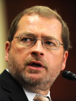 Grover Norquist speaks at a press conference on tax reform in Washington