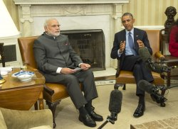 President Obama meets with Indian PM Modi in Washington, D.C.