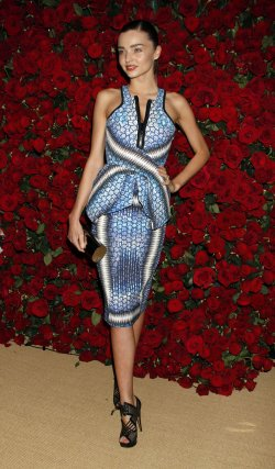 Miranda Kerr arrives for the Museum of Modern Art Film Benefit honoring Pedro Almodovar in New York