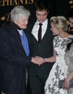 """Robert Pattinson, Hal Holbrook and Reese Witherspoon arrive for the """"Water For Elephants"""" Premiere in New York"""
