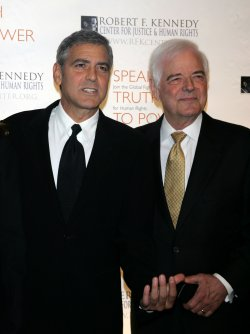 George Clooney and Nick Clooney arrive for the Ripple of Hope Awards in New York