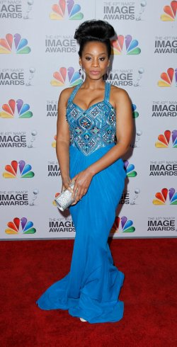Actress Anika Noni Rose arrives at the 43rd NAACP Image Awards in Los Angeles
