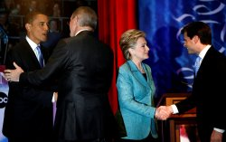 Democratic presidential candidates debate in Pennsylvania