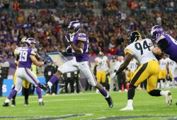 Viking's Adrian Peterson scores a touchdown.