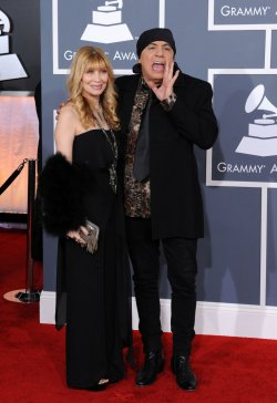 Steve Van Zandt and wife Maureen arrive at the 54th annual Grammy Awards in Los Angeles