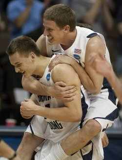 BRIGHAM YOUNG AND GONZAGA PLAY IN THE NCAA NATIONAL CHAMPIONSHIP THIRD ROUND SOUTHEAST REGIIONAL IN DENVER..