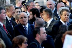 New York politicians attends the commemoration ceremony as September 11th terrorist attacks are observed in New York