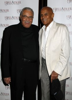 "Harry Belafonte and James Earl Jones arrive for the ""Stella By Starlight"" Gala in New York"