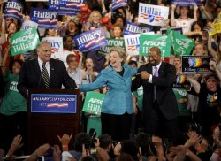 Clinton celebrates Pennsylvania victory in Philadelphia