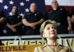 Hillary Clinton Campaigns in Merrillville, Indiana