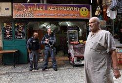 Israeli Riot Police In Muslim Quarter Jerusalem
